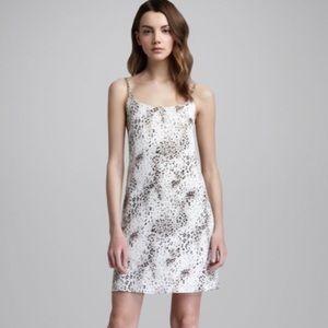 Alice And Olivia Silk Animal Printed Slip Dress